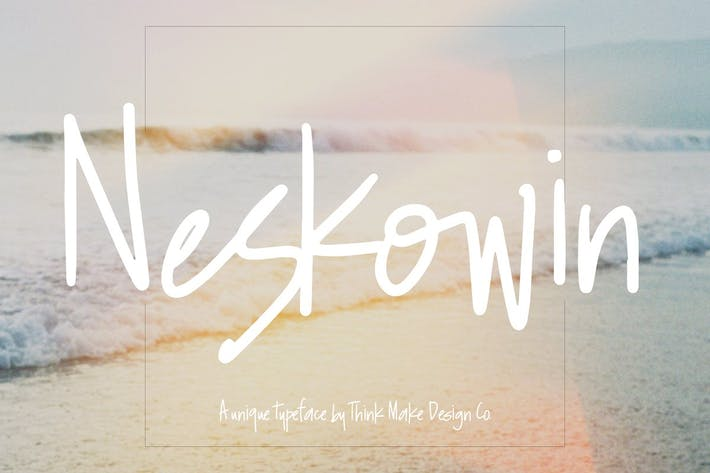 Thumbnail for Neskowin Font + Fun Ligatures