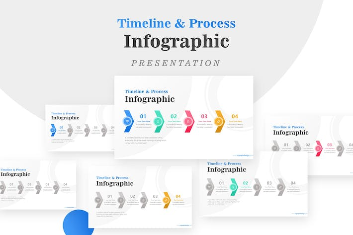 Thumbnail for Business Process with Timeline Arrows Infographic