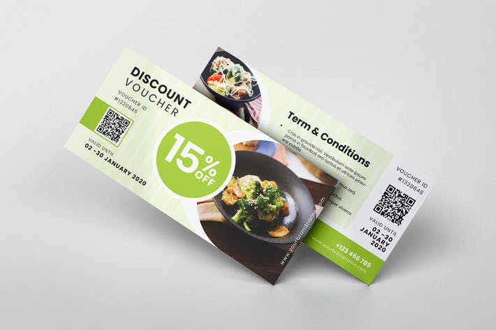Thumbnail for Restaurant AI and PSD Gift Voucher