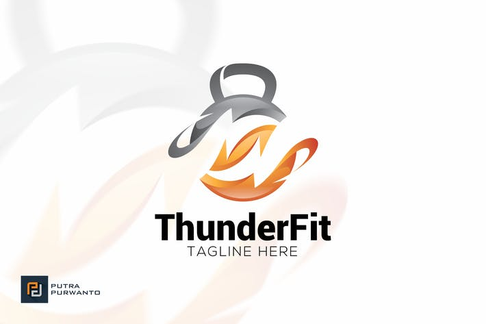 Cover Image For Thunder Fit - Logo Template