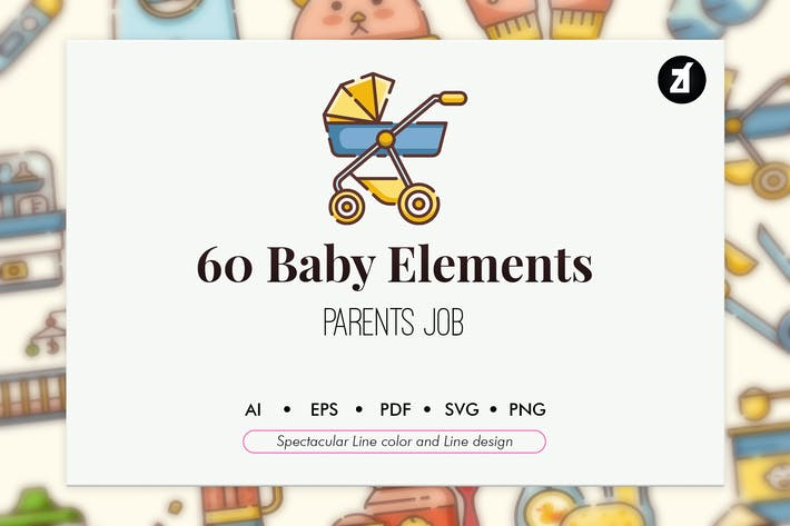 Thumbnail for 60 Baby elements