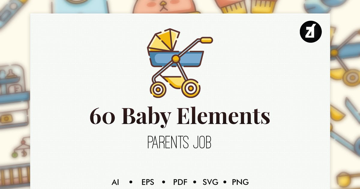 Download 60 Baby elements by Chanut_industries