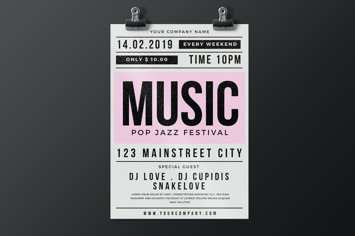 Cover Image For Music Party Flyer