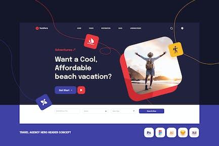 Travel Agency Hero Header Concept