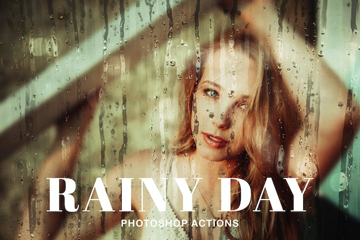 Thumbnail for Rainy Day Photoshop Actions