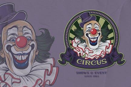 Clown - Circus Emblem