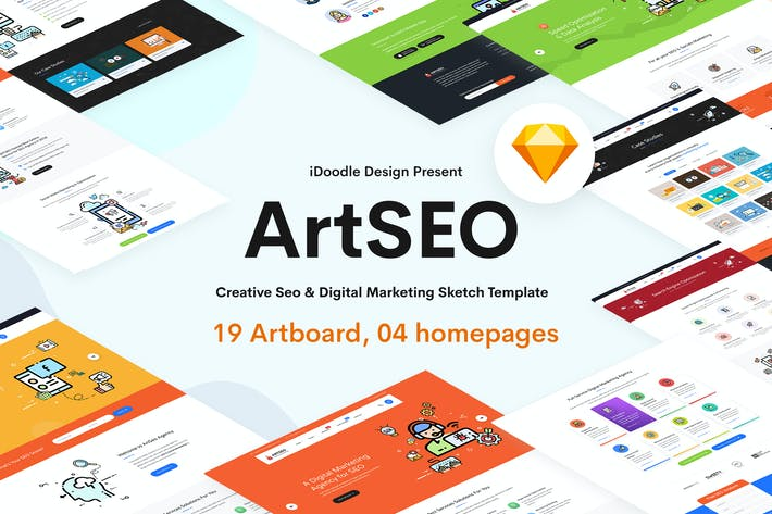 Cover Image For ARTSEO - SEO & Digital Marketing Sketch Template