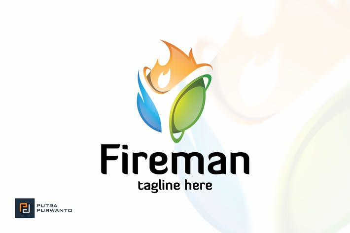 Thumbnail for Fireman - Logo Template