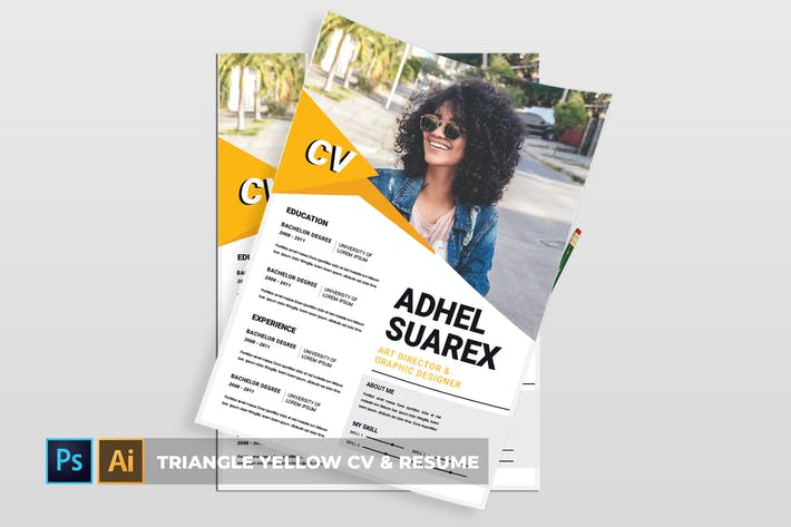 Thumbnail for Triangle Yellow | CV & Resume