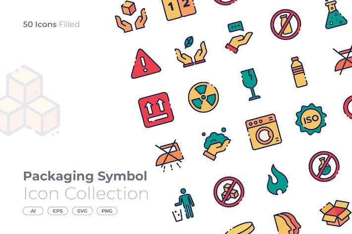 Thumbnail for verpackungssymbol gefüllt symbol