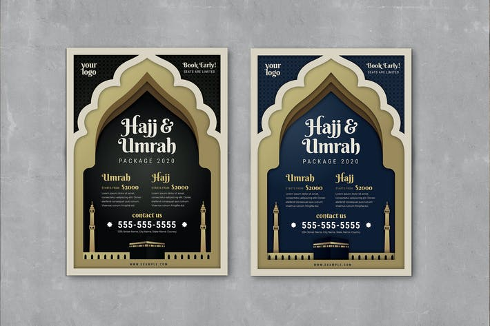 Thumbnail for Umrah & Hajj Flyer Template