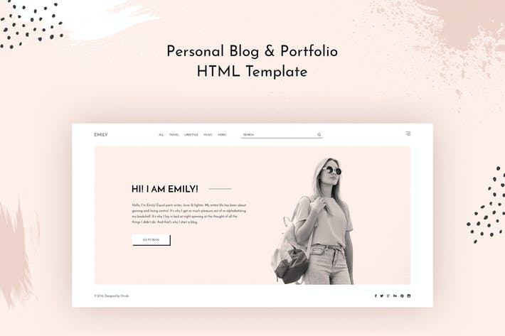 Thumbnail for Emily — Personal Blog HTML Template