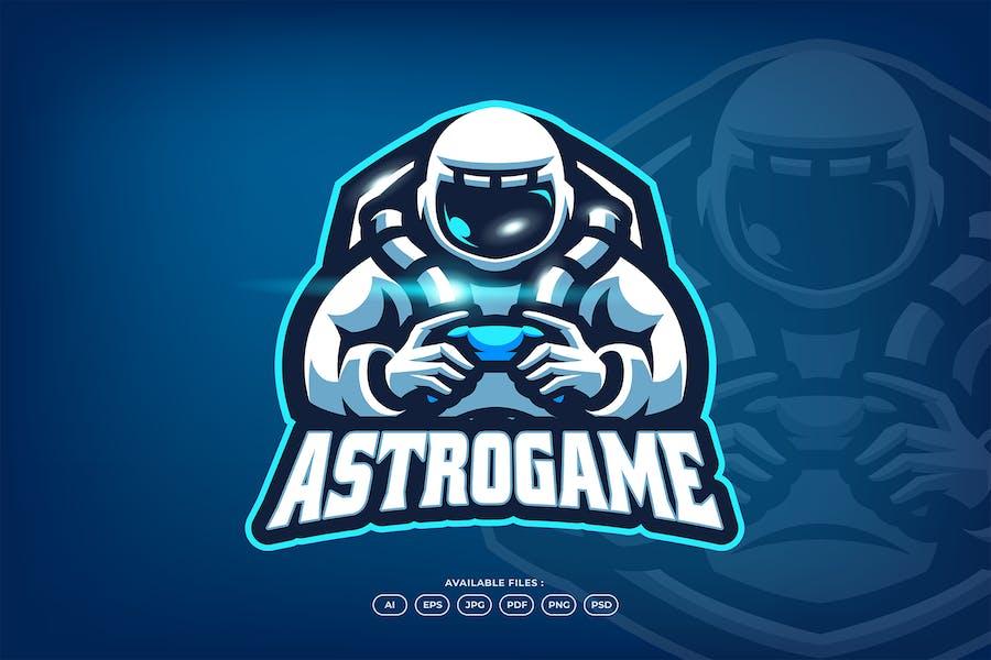 Astronaut Gamer Logo