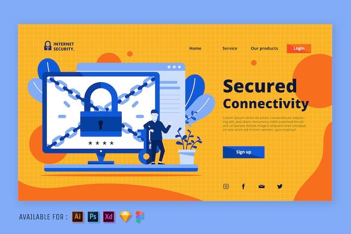 Internetsicherheit - Web-Illustration