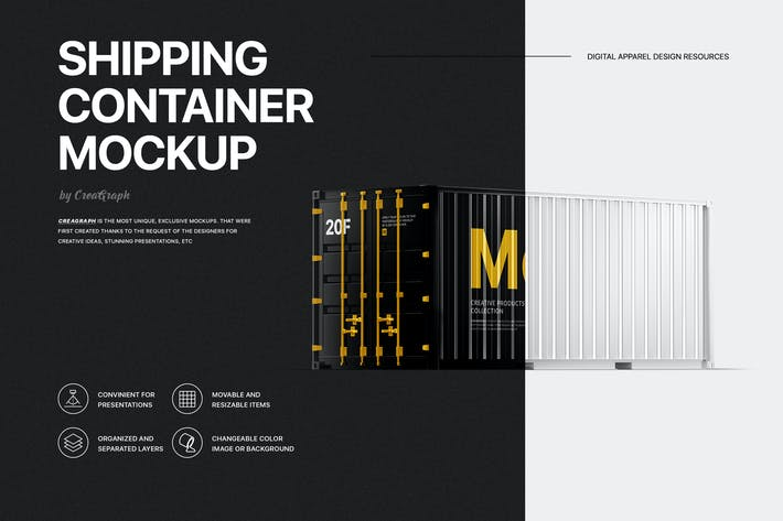 Thumbnail for Shipping Container Mockup