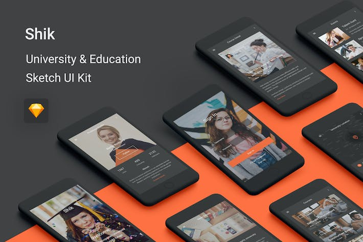 Thumbnail for Shik - University & Education UI Kit for Sketch