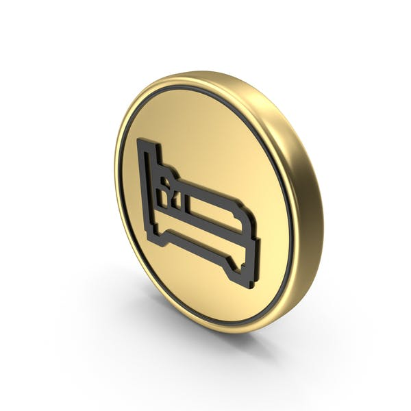 Sleeping Accommodation Coin Logo Icon