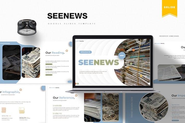 Thumbnail for Seenews | Google Slides Template