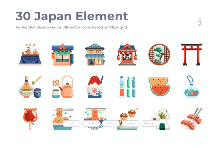 Thumbnail for 30 Japan Element - Flat