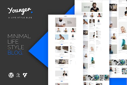 Younger Blogger - Personal Blog WordPress Theme