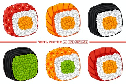 Sushi Vector Pack #02