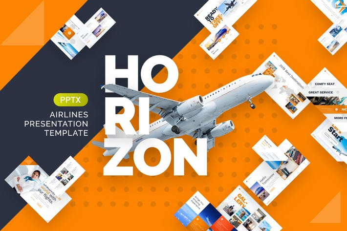 Thumbnail for Horizon Airlines Presentation PowerPoint Template