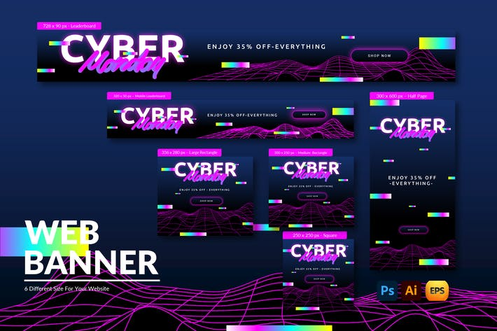 Cyber Monday Discount| Web Banner