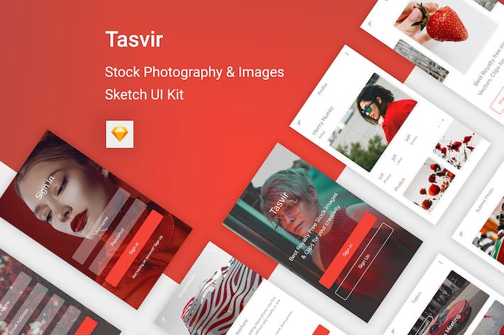 Thumbnail for Tasvir - Stock Photography & Images (Sketch App)