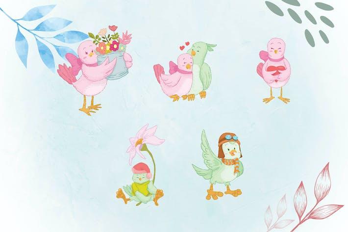 Thumbnail for Whimsical Animal Illustrations BIRD