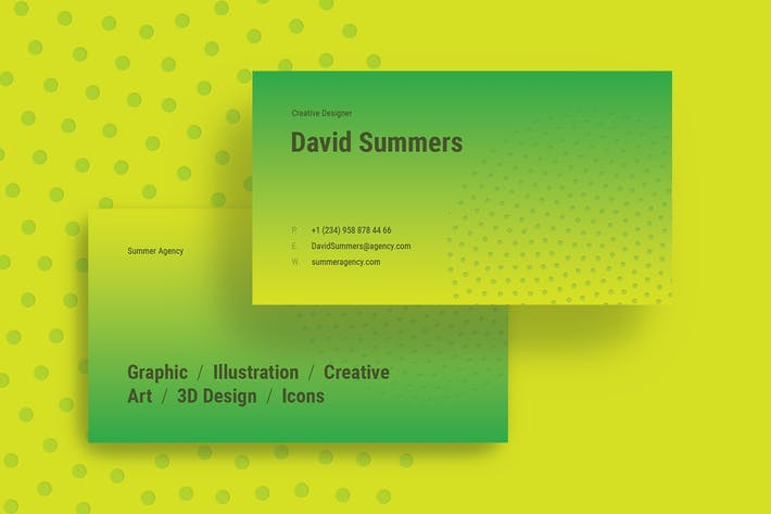 Cover Image For Summer Creative Business Card Template