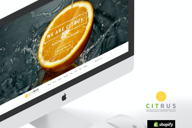 Citrus one page parallax Shopify Theme