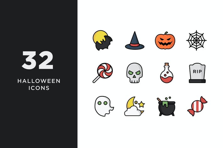 Thumbnail for Illustrative Halloween Icons