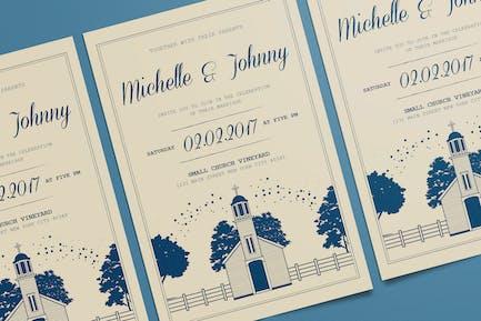 Vintage Wedding Card/Invitation