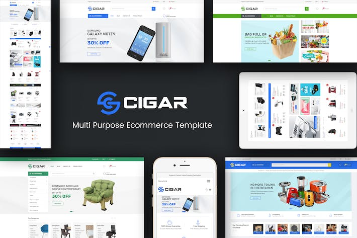 Thumbnail for Cigar - Mega Store Responsive Magento Theme