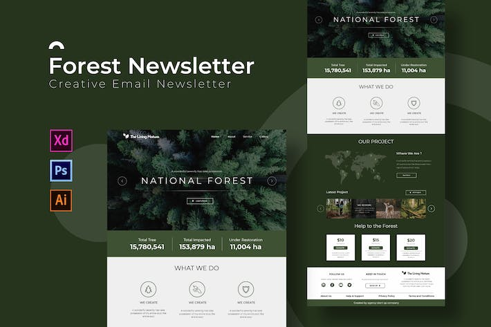 Thumbnail for Forest | Newsletter Template