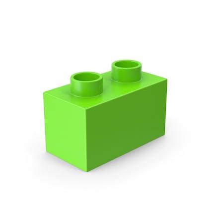 2x1 Grünes Ziegel-Spielzeug