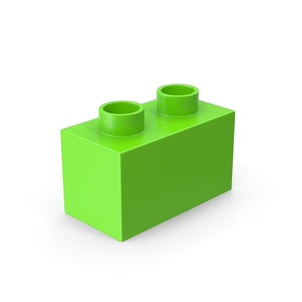 Thumbnail for 2x1 Green Brick Toy