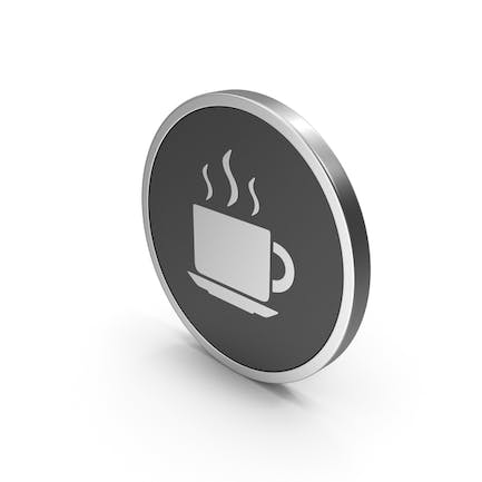 Silver Coffee Cup Icon