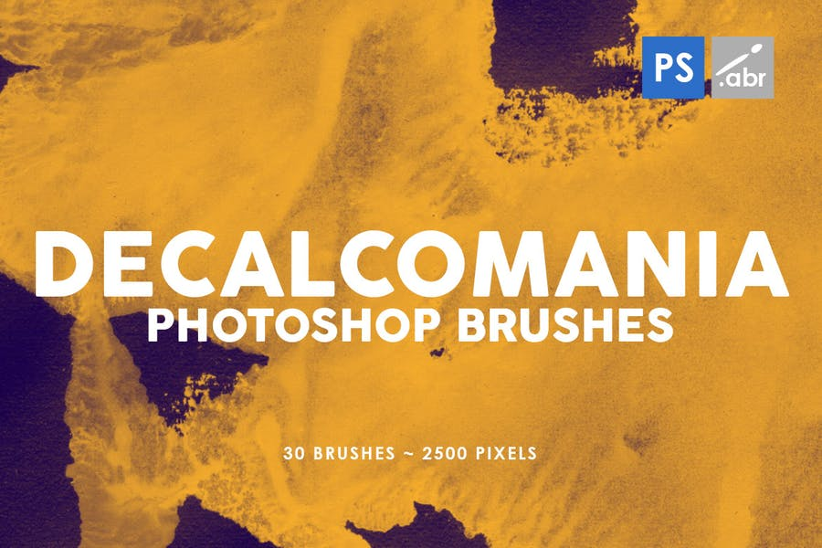 30 Decalcomania Photoshop Stamp Brushes