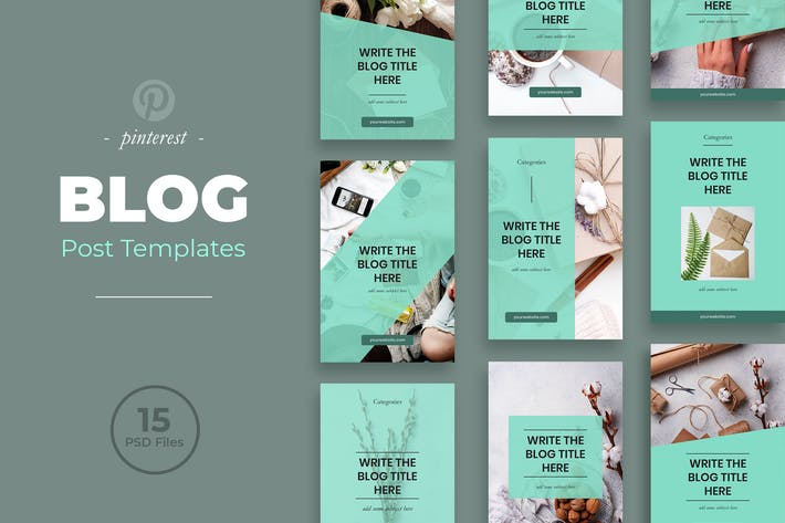 Thumbnail for Blog Pinterest Templates