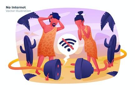 No Internet - Ilustración Vector
