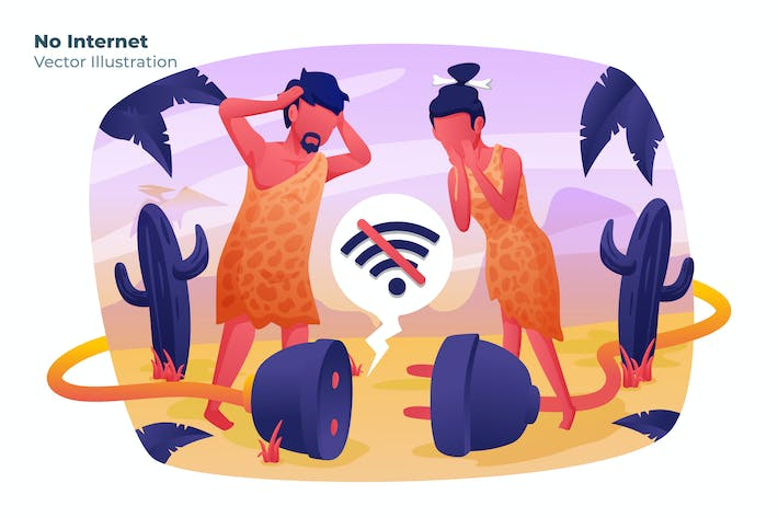 Thumbnail for No Internet - Vector Illustration