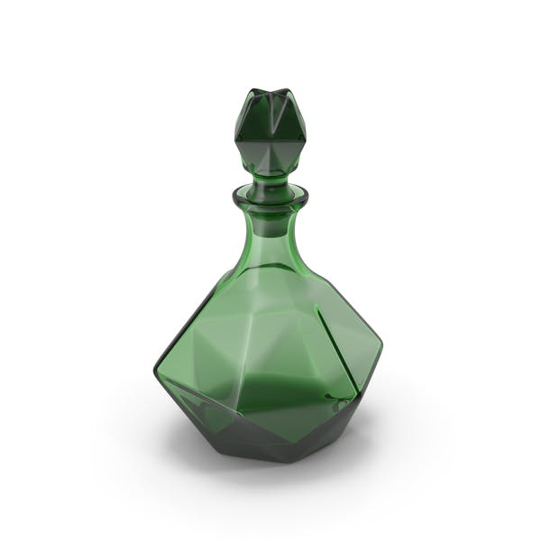 Grüner Glaskaraffe