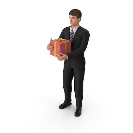Hombre de negocios John Holding Presente