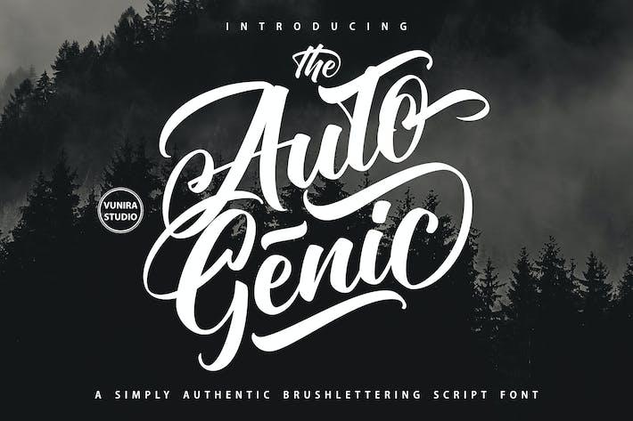 Thumbnail for Autogenic |  Brush Lettring Font