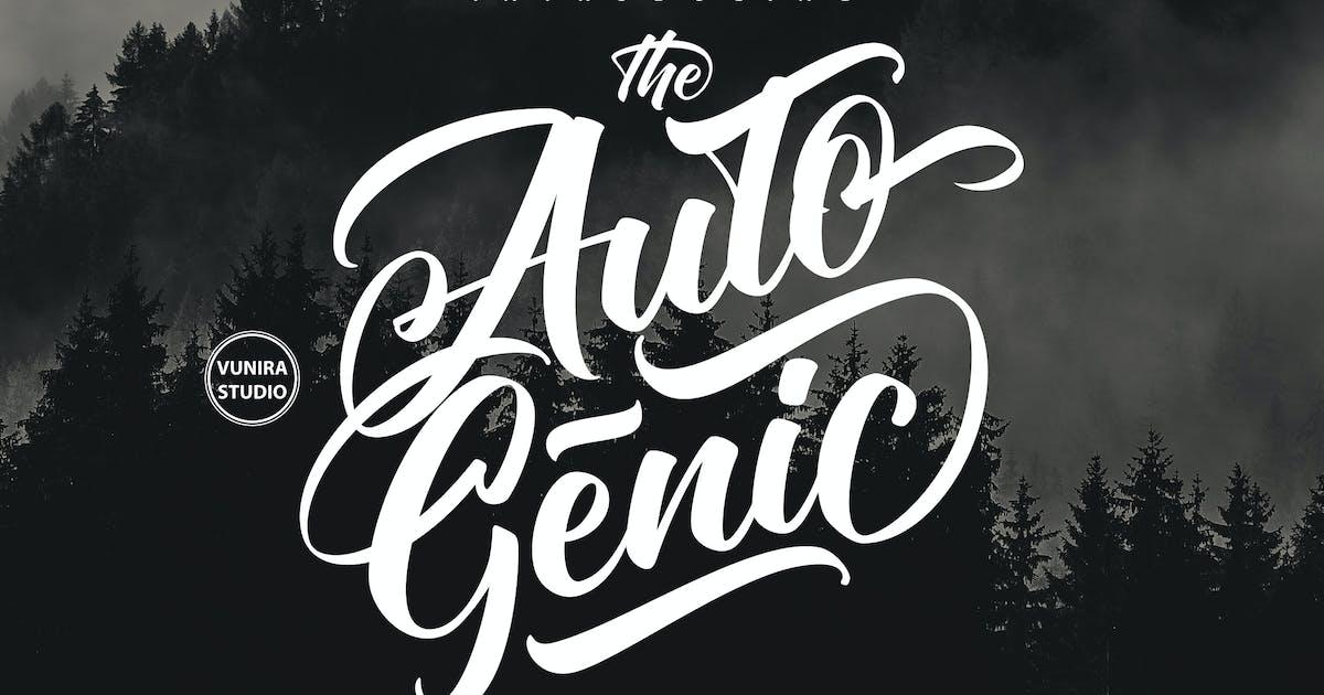 Download Autogenic    Brush Lettring Font by Vunira