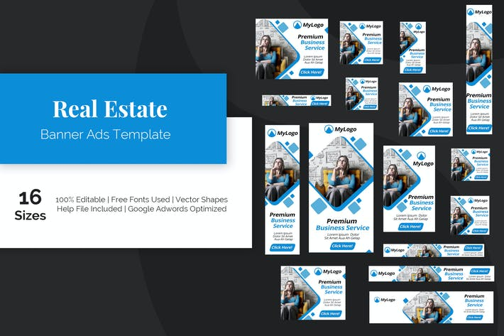 Cover Image For Real Estate Banner Ads Template