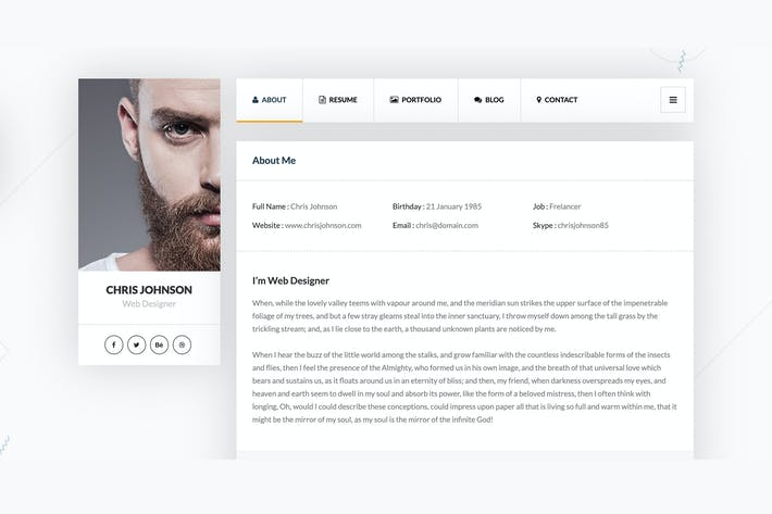 Thumbnail for vCard & Resume Template
