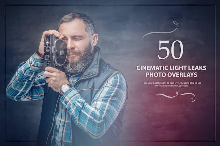 Thumbnail for 50 Cinematic Light Leaks Photo Overlays