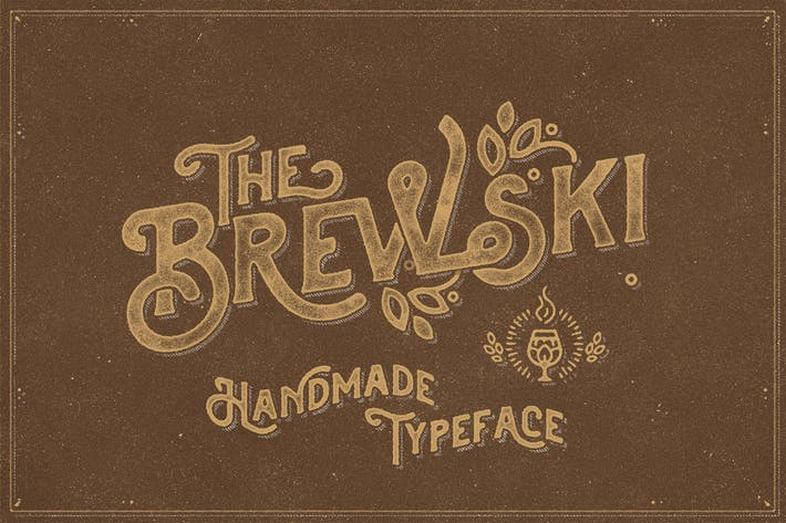 Thumbnail for The Brewski - Textured Typeface